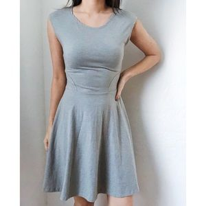 Topshop gray basic skater dress US 4